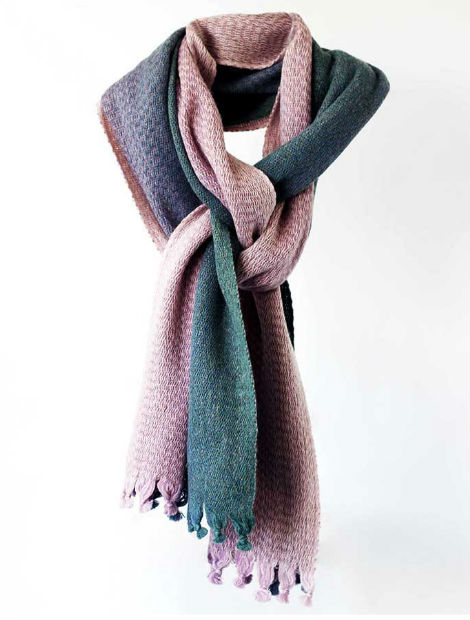 9e197a151699c It's woven using a vertical hand warping mill while its fringes at the end  are knotted by hand. A true piece of craftsmanship. Skellig Scarf